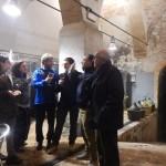 Il brindisi nella bellissima cantina dell'Azienda Agricola Pacchiarotti Antonella