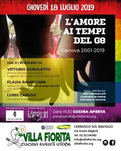 locandina presentazione L'amore ai tempi del G8_Villa Fiorita