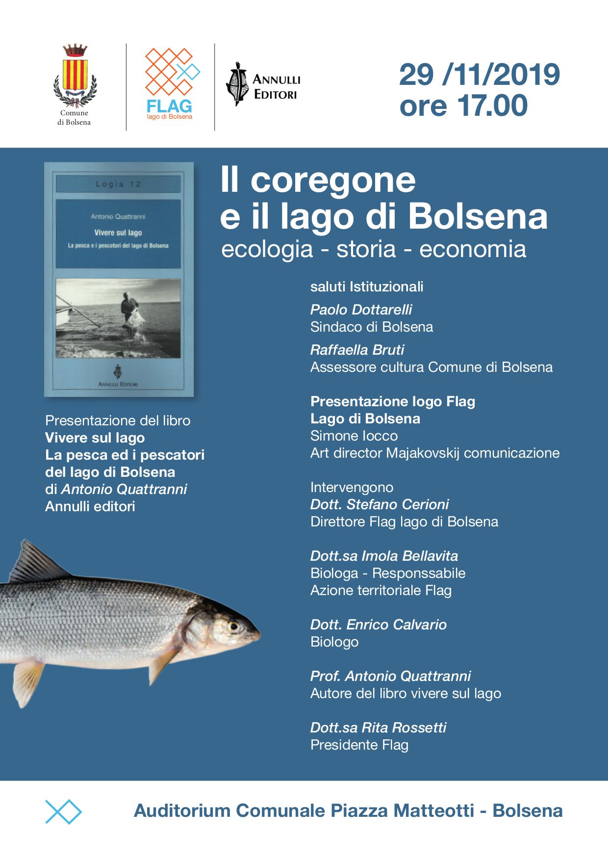 locandina Vivere sul lago a Bolsena_Flag